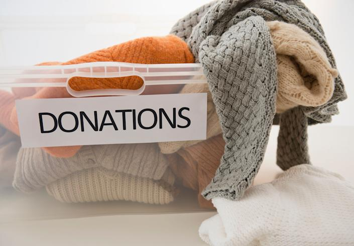Before you toss them in the trash, donate or (if you're pressed for cash) sell your undamaged clothes and accessories to secondhand stores or local charities. To make the most of your gift, seek out organizations specifically in need of clothing to donate your unwanted goods.