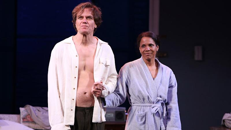 Michael Shannon and Audra McDonald at the curtain call for Frankie and Johnny in the Clair de Lune
