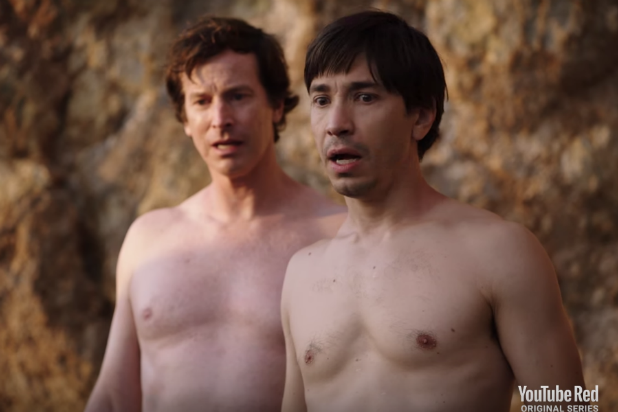 Rob Huebel on Getting Naked With Justin Long on Malibu Beach for New Show: 'That Was Weird'