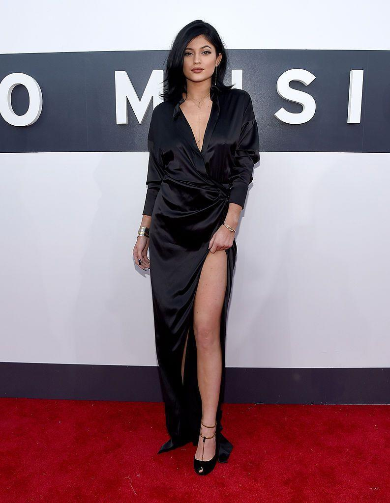 <p>The youngest Kardashian Jenner wore all black to the 2014 MTV Video Music Awards.</p>