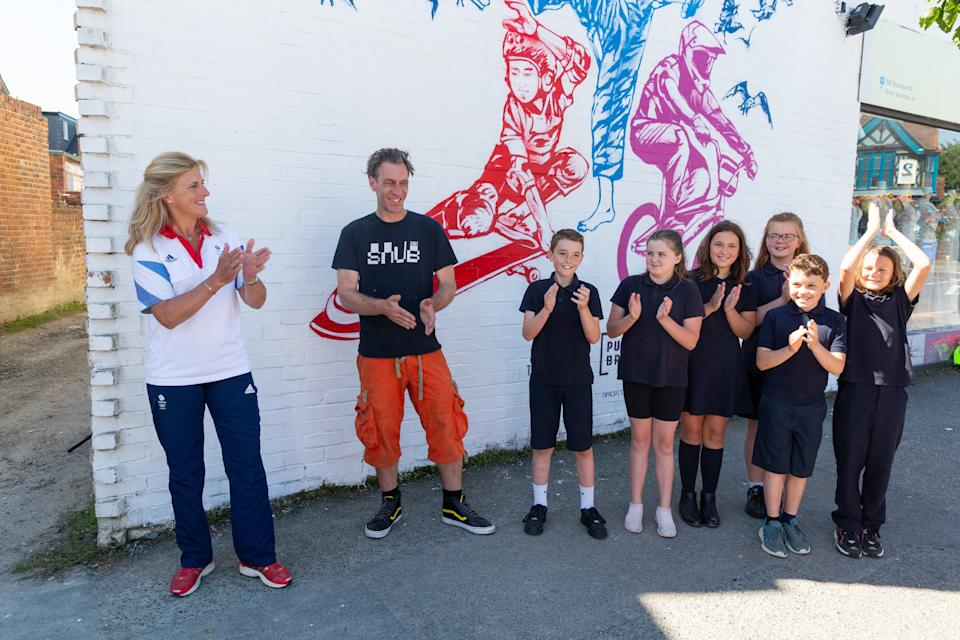 The Mural unveiling aimed to promote home support at this summer's Olympic Games in Tokyo