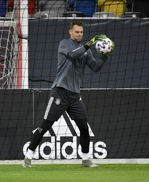 Germany goalkeeper Manuel Neuer says he can understand why tickets sales are low for the last two Euro 2020 home qualifiers against Belarus in Moenchengladbach on Saturday and home to Northern Ireland next Tuesday in Frankfurt. (AFP Photo/INA FASSBENDER)