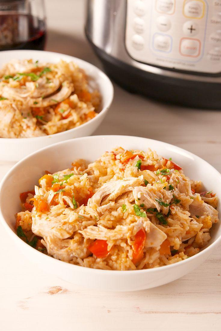 """<p>Faster than take-out.</p><p>Get the recipe from <a href=""""https://www.delish.com/cooking/recipe-ideas/a19677130/instant-pot-chicken-and-rice-recipe/"""" rel=""""nofollow noopener"""" target=""""_blank"""" data-ylk=""""slk:Delish"""" class=""""link rapid-noclick-resp"""">Delish</a>.</p>"""