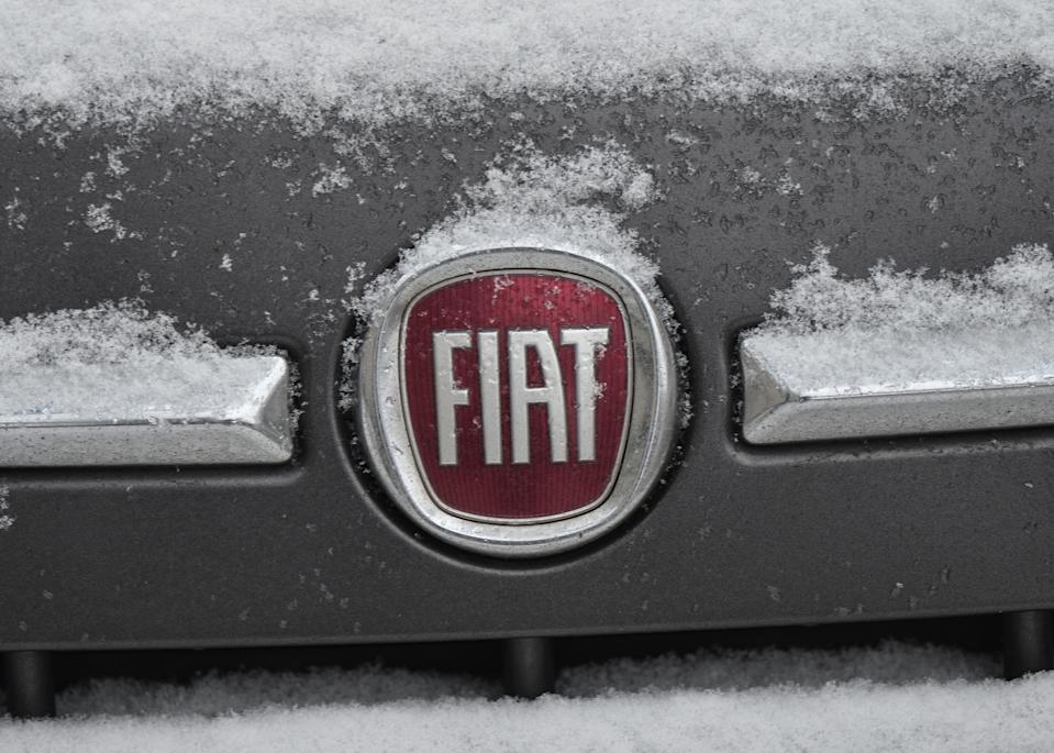 A Fiat logo seen on a parked car in Krakow city center.  On Thursday, December 10, 2020, in Krakow, Poland. (Photo by Artur Widak/NurPhoto via Getty Images)