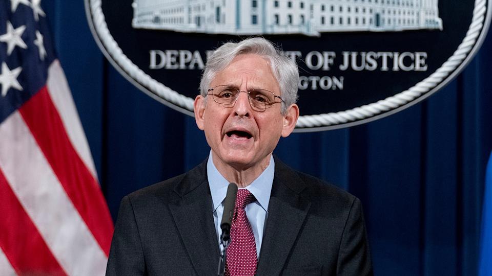Attorney General Merrick Garland announced Wednesday the Department of Justice is launching a civil investigation into whether the Minneapolis Police Department engages in unlawful policing. (Andrew Harnik/Pool via REUTERS