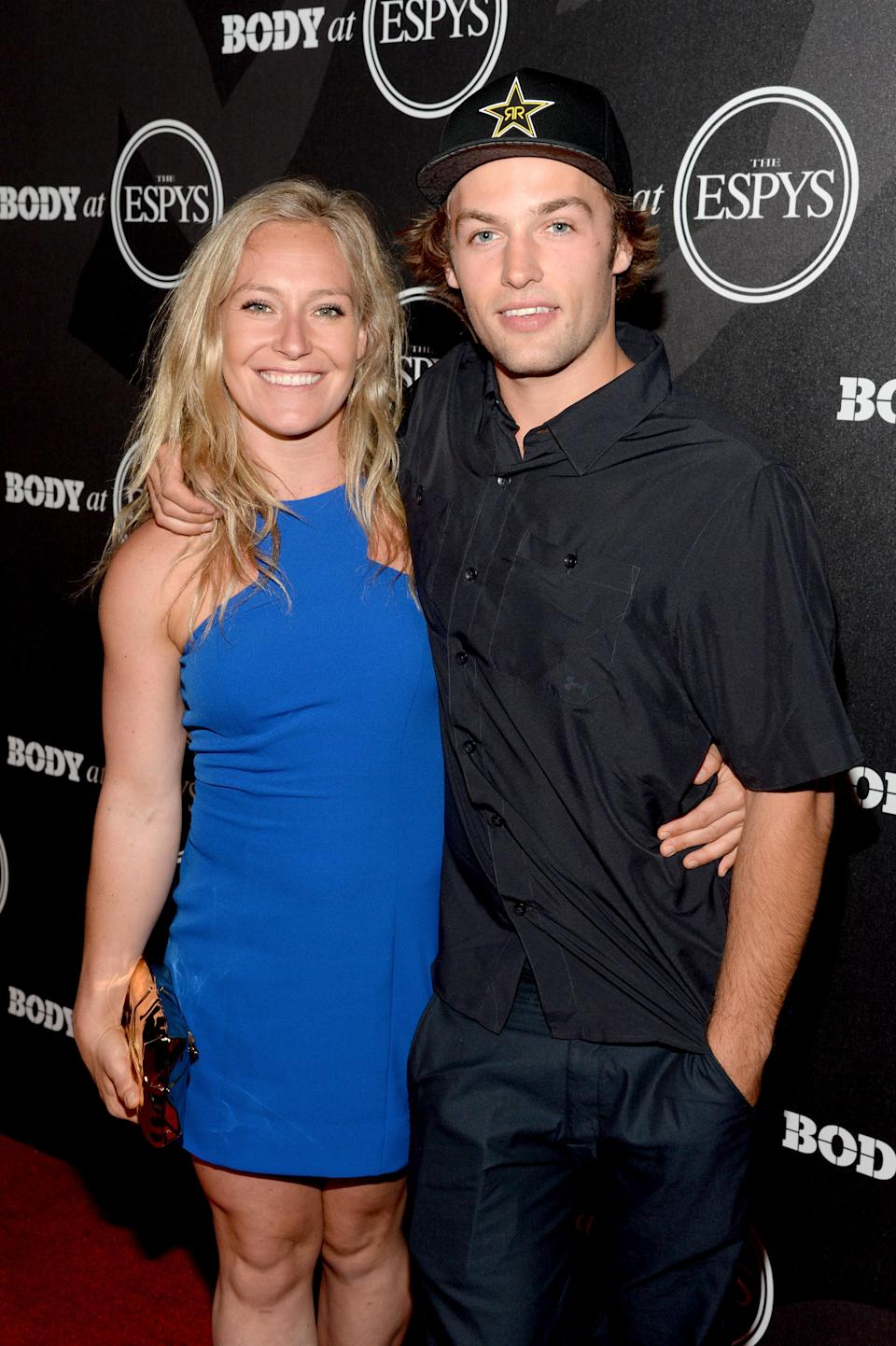 <p>American snowboarding couple, Jamie Anderson and Tyler Nicholson met in a Canadian bar five years ago and recently celebrated their three-year anniversary as a couple. Both are representing Team USA in PyeongChang and Anderson just won her second Olympic gold medal, in women's slopestyle. (Getty) </p>