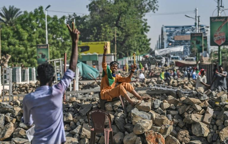 The protesters have thrown up barricades around their sit-in but Sudan's military rulers have vowed repeatedly they will not resort to force to disperse them