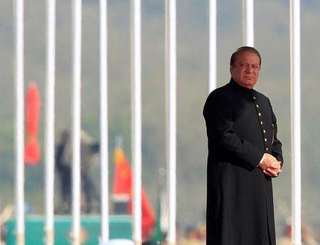 Pakistan's Prime Minister Nawaz Sharif attends the Pakistan Day military parade in Islamabad, Pakistan