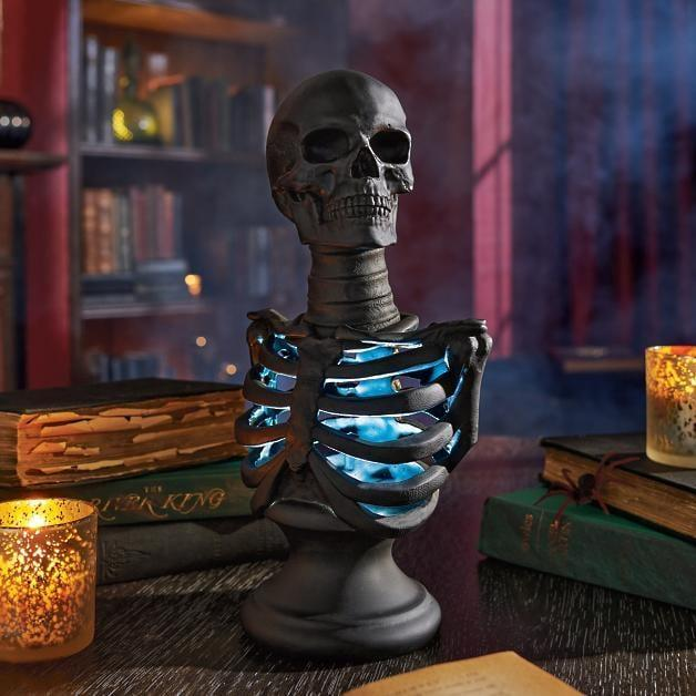 <p>This <span>Pre-lit Skeleton Bust</span> ($40) will light up the room in the spookiest way.</p>