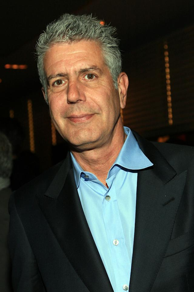 """NEW YORK, NY - APRIL 21:  Celebrity chef Anthony Bourdain  attends the """"Treme"""" New York Premiere after party at Rouge Tomate on April 21, 2011 in New York City.  (Photo by John W. Ferguson/Getty Images)"""