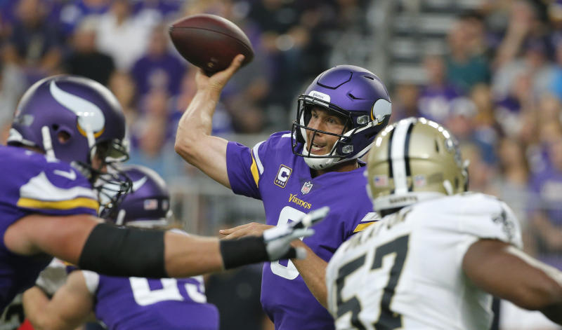 Sam Bradford had a very good game in the Vikings' season opener on Monday night. (AP)
