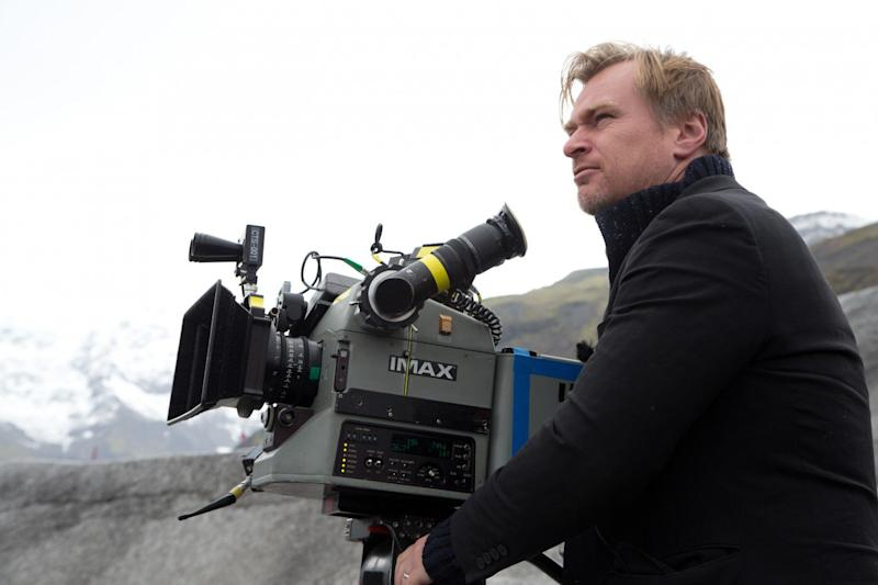 Christopher Nolan on the set of <i>Interstellar</i>, 2014. (Warrner Bros.)