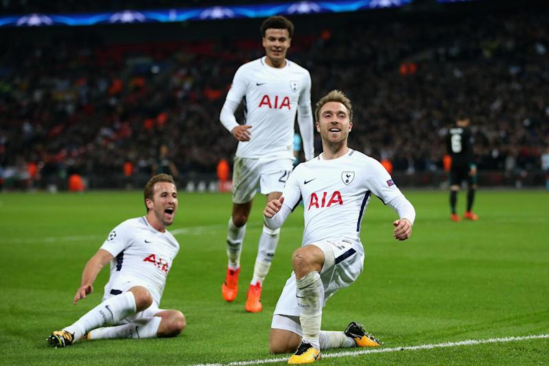 Rekindle | Eriksen, Alli and Kane celebrate during the win against Real Madrid: Tottenham Hotspur FC via Getty Images