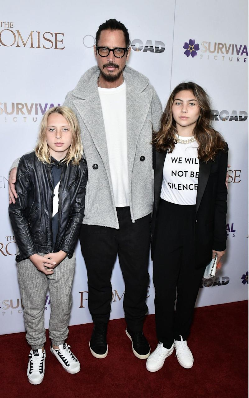 Cornell with his daughters Toni and Lilian Jean - Credit:  Steven Ferdman/REX/Shutterstock
