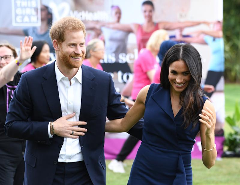 The Duke and Duchess of Sussex during their Australian tour.