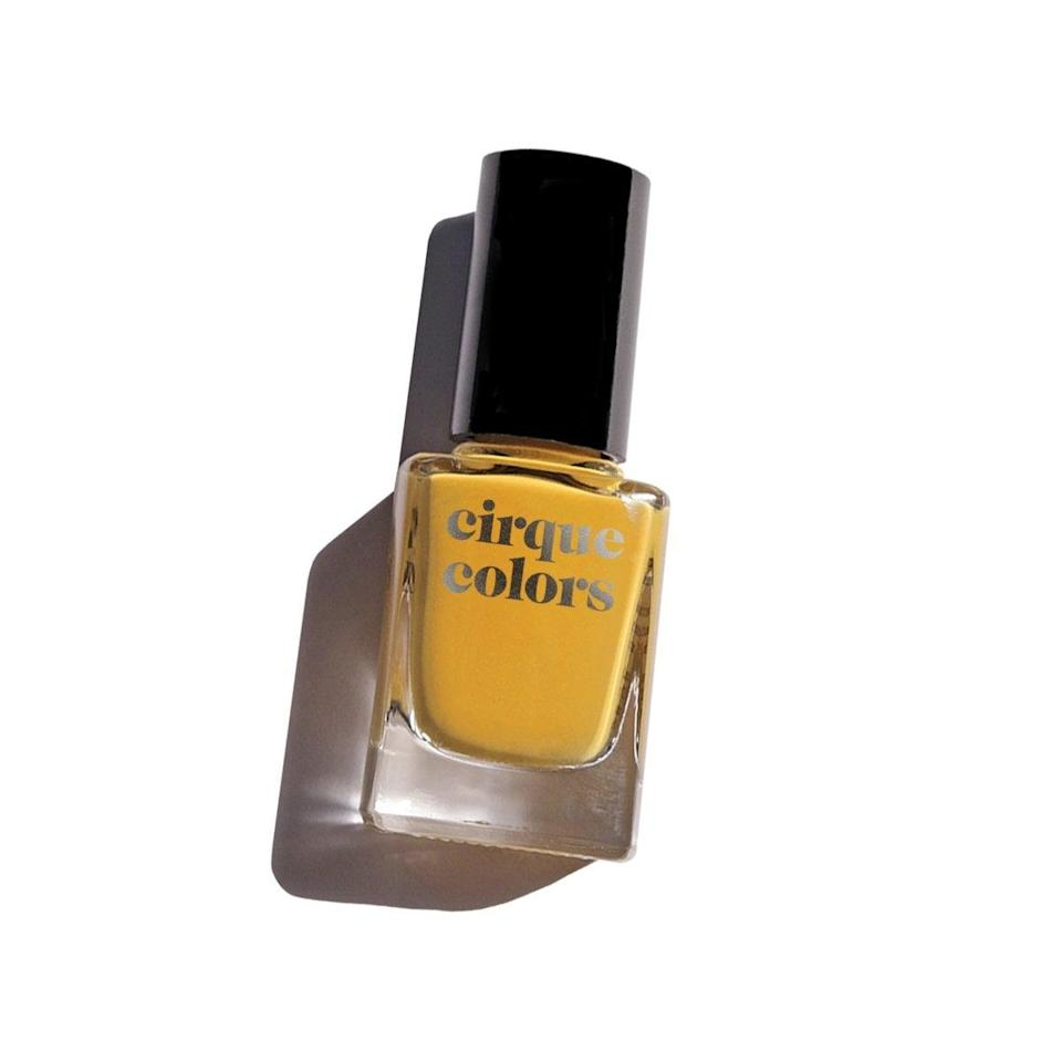 <p>The on-trend mustard hue of the <span>Cirque Colors Crème Nail Polish in Urbanized</span> ($13) will pop against your skin.</p>