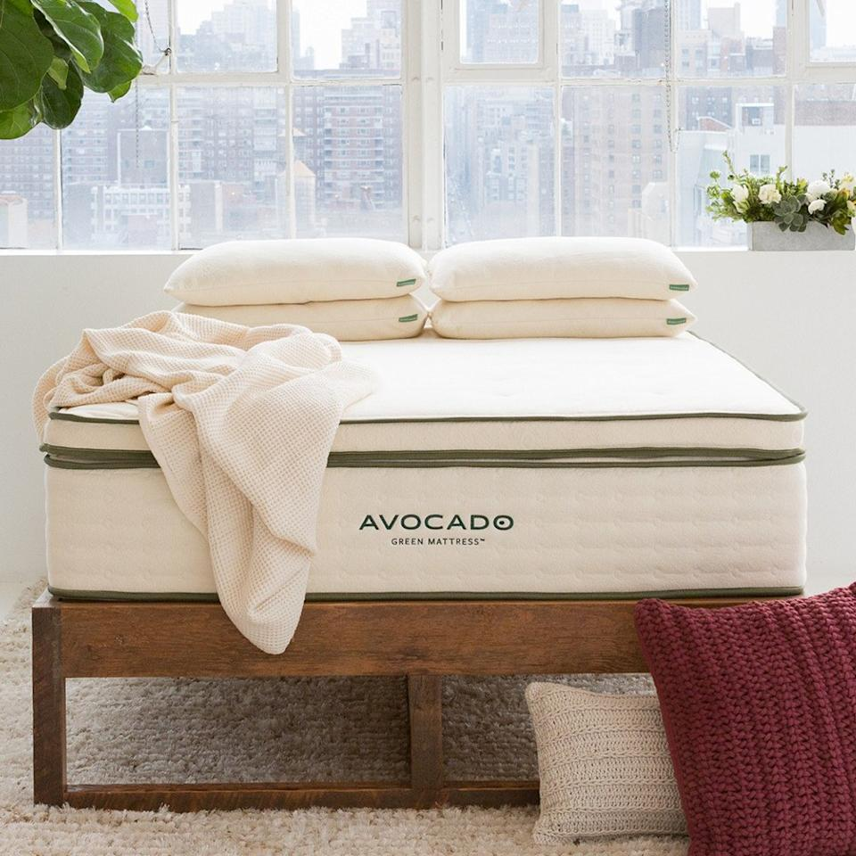 "<p>For your partner who's always complaining of aches and pains on a too-firm bed, you don't have to splurge on a full mattress upgrade. This plush mattress topper from <a href=""https://www.avocadogreenmattress.com/"" rel=""nofollow"">Avocado Mattress</a>, crafted with ethically sourced organic wool and latex, will add some airy cushioning to help both of you doze off in comfort (and is one sleep investment you'll have for years to come). As part of Avocado Mattress's <a href=""https://www.avocadogreenmattress.com/certifications/"">commitment to sustainability</a>, the brand will also donate 1% of the proceeds to <a href=""https://www.avocadogreenmattress.com/giving/"">environmental nonprofits</a> as members of <a href=""https://www.onepercentfortheplanet.org/"">1% for the Planet</a>.</p> <p>P.S. If you'd prefer something wool-free, Avocado Mattress also makes a <a href=""https://www.avocadogreenmattress.com/shop/vegan-mattress-topper/?variant=queen-plush"" rel=""nofollow"">vegan version</a> made with 100% organic-cotton fill.</p> <p><strong>Buy it:</strong> $449, <a href=""https://www.avocadogreenmattress.com/shop/mattress-topper/?variant=queen-plush"" rel=""nofollow"">avocadomattress.com</a></p> <p><em>Produced in partnership with Avocado Mattress.</em></p>"
