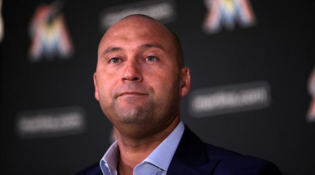 Derek Jeter seems to have a positive outlook on this season and sees the Marlins as 'contenders,' according to a transcript in The Miami Herald for an upcoming episode of HBO's Real Sports with Bryant Gumbel.