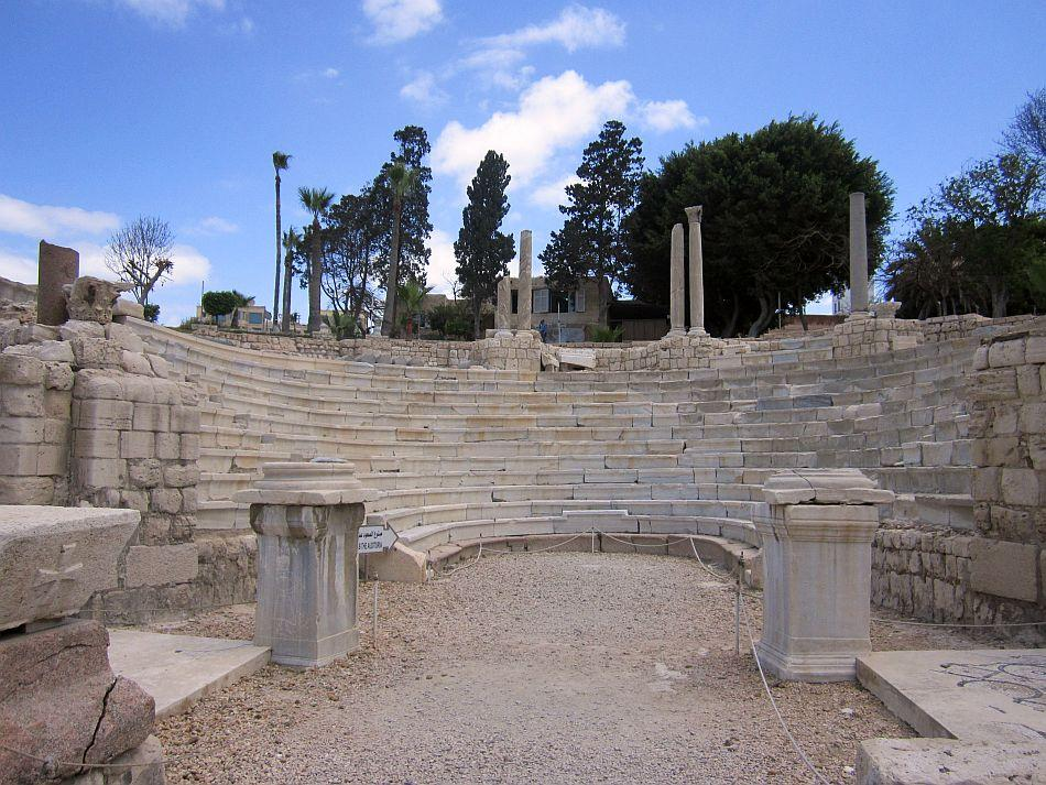 """Roman Amphitheatre at Alexandria<br><br><b>ABOUT THE PHOTOGRAPHER<br><br></b><img style="""""""" src=""""http://l.yimg.com/t/images/svetlana-baghawan-80.jpg""""><b>SVETLANA BAGHAWAN</b> worked for 13 years as a flight attendant, a job that gave her the opportunity to travel and explore places close to her heart and of her dreams. Now blessed with a four-year-old daughter, she runs a beauty salon and spa in Kolkata but her restless traveler's spirit never leaves her alone. Thanks to her supportive husband and family, she backpacks as a single woman traveler all over the world at least four times a year, mostly with her four-year-old budding traveler in tow."""