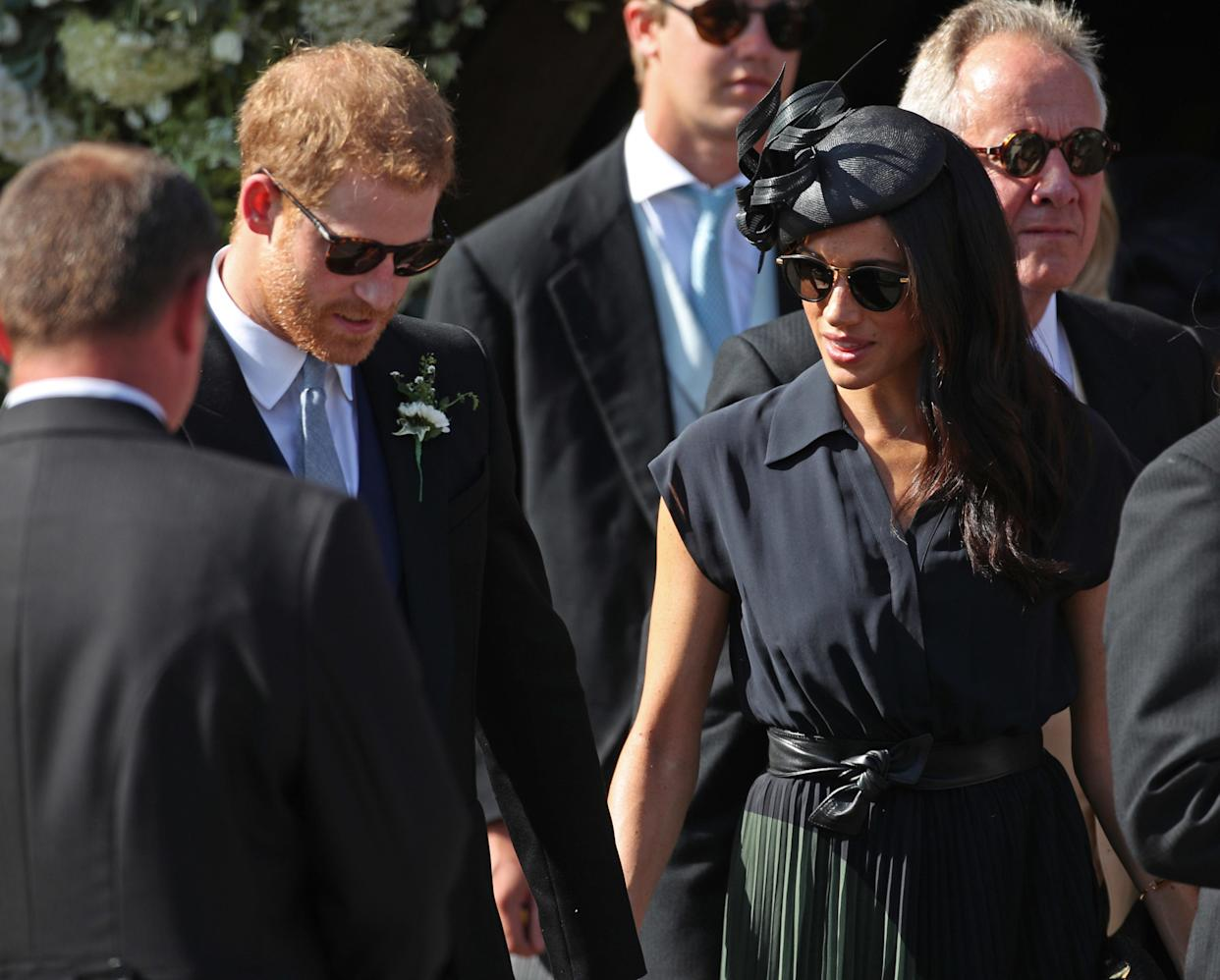 Meghan and Harry are busy performing duties elsewhere [Photo: PA]