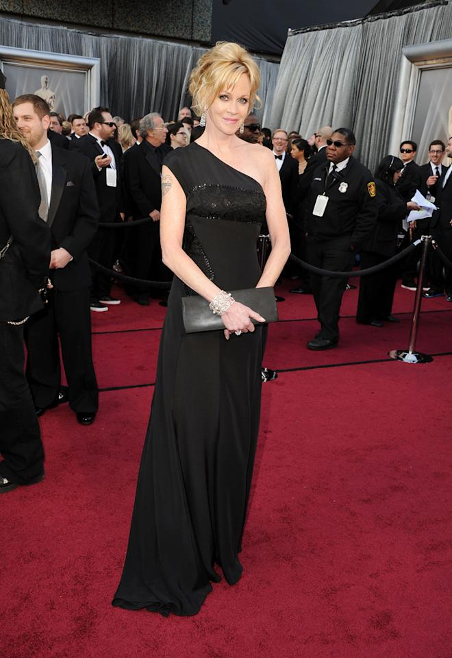 Melanie Griffith arrives at the 84th Annual Academy Awards in Hollywood, CA.