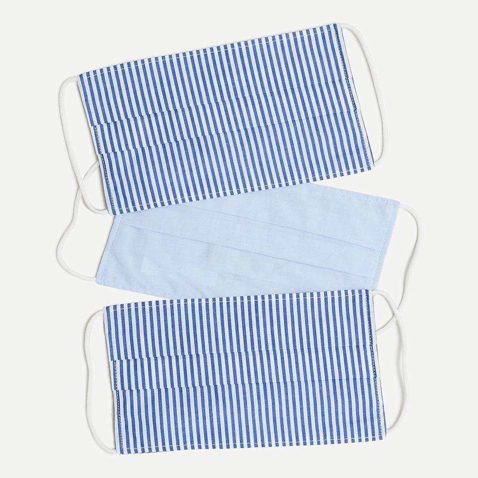 <p>In partnership with Madewell, J. Crew is also selling fabric masks. This pack of three <span>J. Crew Fabric Face Masks</span> ($18) has been selling out fast, but the brand is planning on restocking soon.</p>
