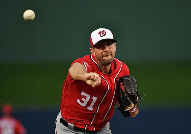 Reigning world champion Max Scherzer should enjoy success this shortened season. (Photo by Mark Brown/Getty Images)