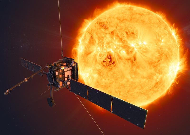 ESA's Solar Orbiter skimmed the sun this week (ESA)