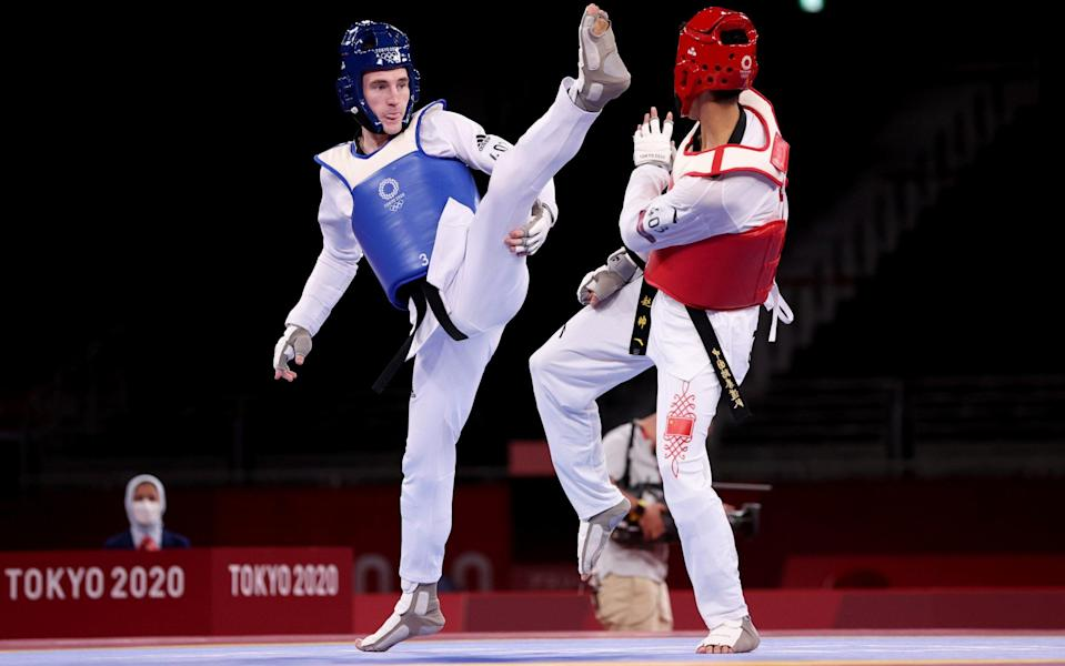 tokyo 2020 live bradly sinden taekwondo olympics gb gold medal - GETTY IMAGES