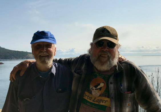 Howard Garrett and Ken Balcomb are two naturalists fighting to preserve the orcas' habitat (Andrew Buncombe)