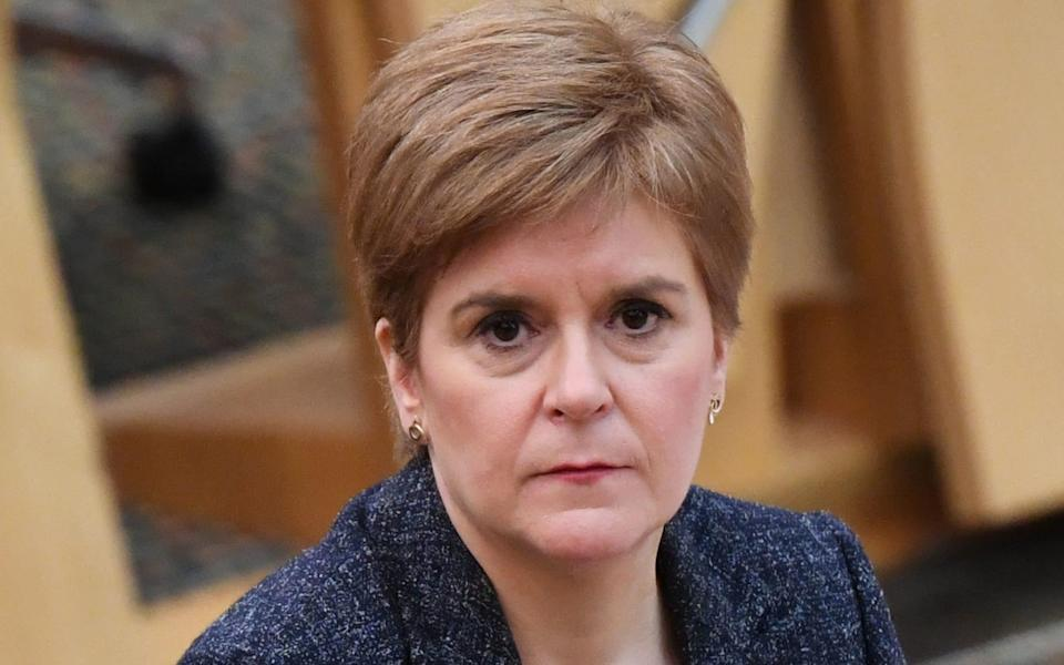 Nicola Sturgeon has announced the level of restrictions for each of Scotland's 32 council areas - PA