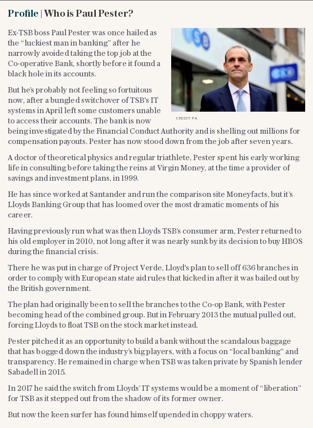Profile | Who is TSB's chief executive Paul Pester?