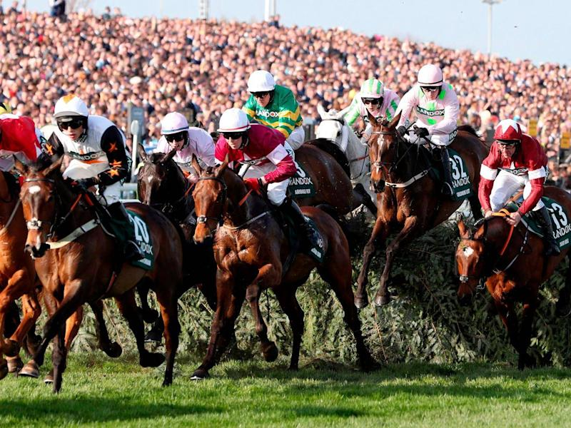 Peta have long criticised the Grand National for its dangerous jumps (Getty)