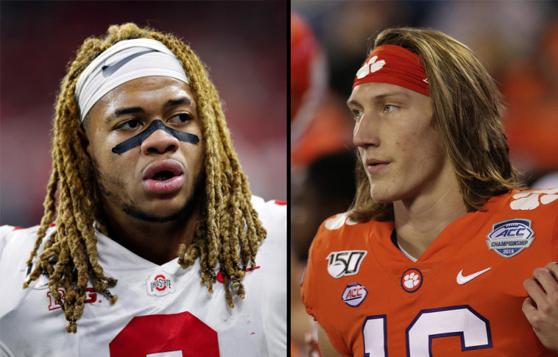 Will college football fans tune in to see Ohio State & # 39; s Chase Young vs. Clemson & # 39; s Trevor Lawrence at the Fiesta Bowl? (Getty)