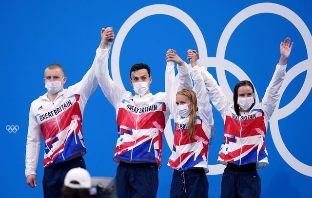 Adam Peaty, James Guy, Anna Hopkin and Kathleen Dawson delivered in the pool