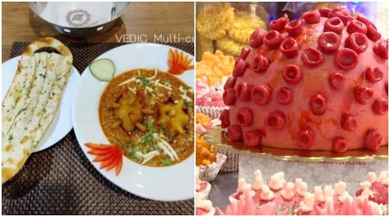 It Happens Only in India! From Corona Curry and Mask Naan in Jodhpur to Corona Sweets and Cakes in Kolkata, How Indians Developed a Connection Between Food Items and COVID-19 Awareness (Check Viral Pics)