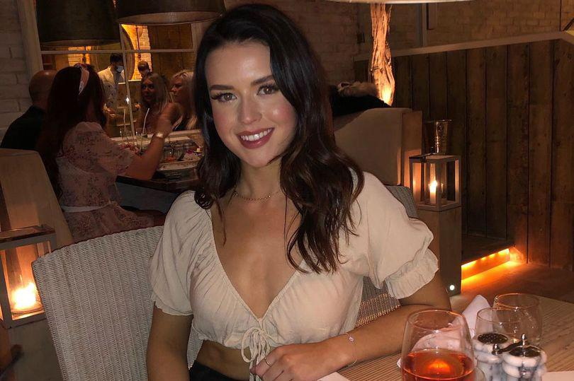 woman at night out for dinner