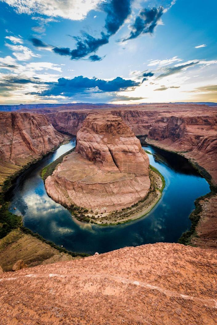 <p><strong>Where: </strong>Colorado River, Arizona</p><p><strong>Why We Love It: </strong>While the Colorado River flows all the way from the Rocky Mountains to Mexico, head to Horseshoe Bend near the border of Arizona and Utah for the most Instagrammable view.</p>