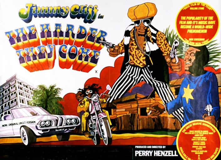 """<h1 class=""""title"""">THE HARDER THEY COME Date: 1972</h1> <div class=""""caption""""> Jamaican musician Jimmy Cliff stars in the film. </div> <cite class=""""credit"""">Photo: RGR Collection / Alamy Stock Photo</cite>"""