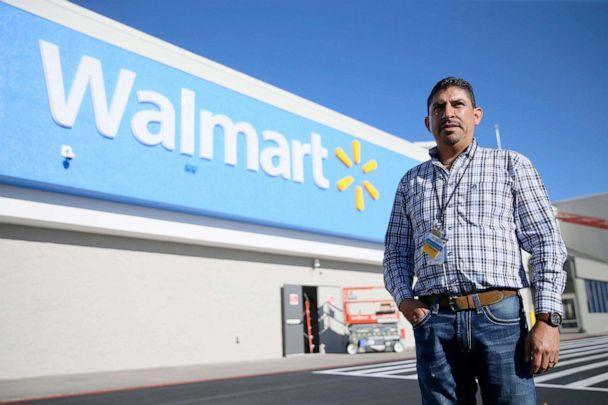 PHOTO: Walmart manager Robert Evans stands in front of a Walmart store in El Paso, Texas, Nov. 13, 2019. (El Paso Times via USA Today Network)