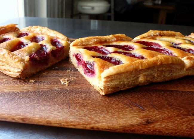 <p>Anytime you see the word frangipane, you know delectable almond paste is involved. Chef John shows you how to make homemade frangipane to spread on refrigerated puff pastry sheets before topping with pluots and glazing with apricot jam. If pluots aren't available, you could substitute other stone fruits like plums or peaches.</p>