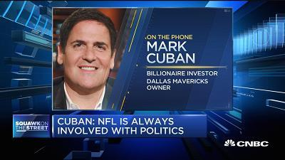 Just because you have a Twitter account doesn't mean you have to use it, says Mark Cuban, Dallas Mavericks owner, sharing his thoughts on President Trump's tweet blasting NFL players protesting the national anthem.