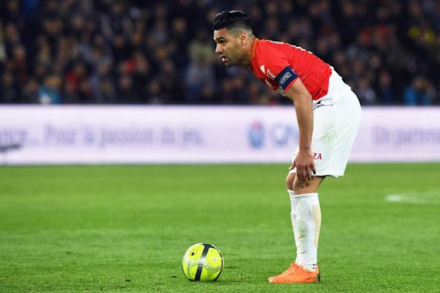 Monaco's Colombian forward Radamel Falcao has been fined for tax evasion in Spain (AFP Photo/CHRISTOPHE ARCHAMBAULT )
