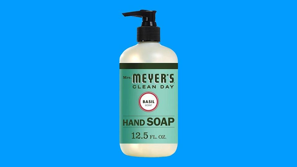 Not only is this Mrs. Meyer's hand soap affordable, but also made with essential oils, aloe vera and other natural ingredients.