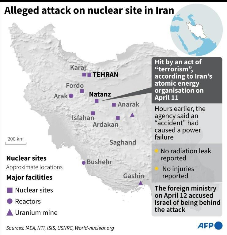 Alleged attack on nuclear site in Iran