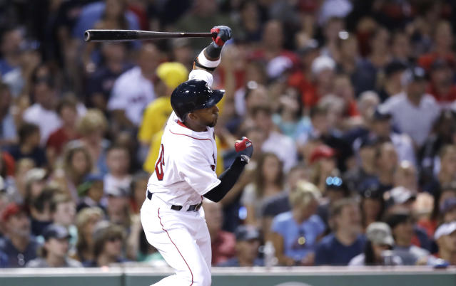 Eduardo Nunez was one of Boston's big upgrades at the deadline. (AP Photo/Charles Krupa)