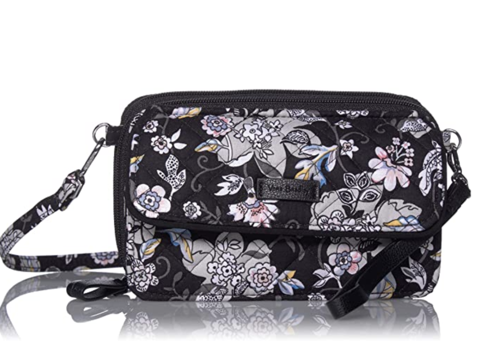 Signature Cotton All in One Crossbody Purse with RFID Protection (Holland Garden)