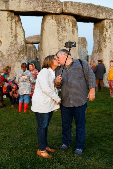 The couple Martin Parr is trying to track down - Credit: Martin Parr