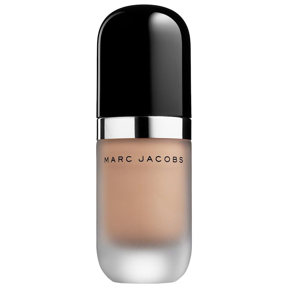"<h3>Marc Jacobs Beauty Re(marc)able Full Cover Foundation Concentrate</h3><br>A mere few dots of this intensely-pigmented foundation is enough to create a full, satiny matte finish that's worthy of an HD closeup — or, you know, Zoom call.<br><br><strong>Marc Jacobs Beauty</strong> Re(marc)able Full Cover Foundation Concentrate, $, available at <a href=""https://go.skimresources.com/?id=30283X879131&url=https%3A%2F%2Ffave.co%2F33wbjbG"" rel=""nofollow noopener"" target=""_blank"" data-ylk=""slk:Sephora"" class=""link rapid-noclick-resp"">Sephora</a>"
