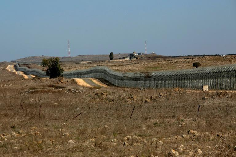 A picture from the Israeli-annexed Golan Heights shows the Israel-Syria border